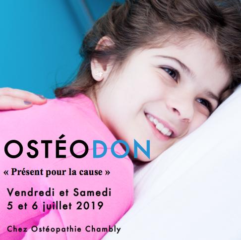 Ostéodon ce samedi 6 juillet 2019 'Présent pour la cause'